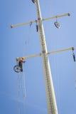 Power line repair Stock Image