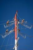 Power line repairs Royalty Free Stock Image