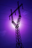 Power line silhouette Royalty Free Stock Image