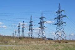 Power line. Royalty Free Stock Images