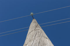 Power line support Royalty Free Stock Photo