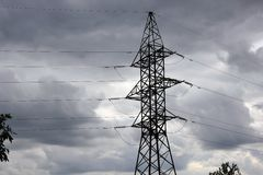 Power line support Stock Image