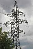 Power line support Royalty Free Stock Photography