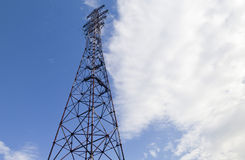 Power line support Royalty Free Stock Image