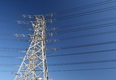 A power line tower Royalty Free Stock Photo