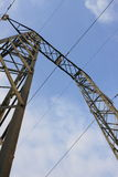 Power line tower Stock Photography