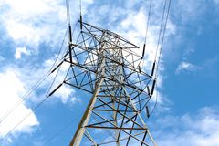 Power Line Tower Royalty Free Stock Photos