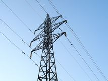 Power line tower Stock Photo