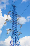 Power line tower royalty free stock image