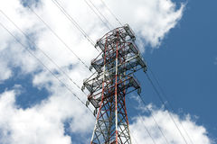 Power line tower Stock Images