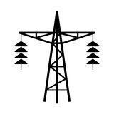 Power line tower vector icon Stock Photography