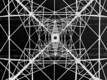 Power line tower viewed from above. Geometrical structure. Energy distribution. Power line tower viewed from above. Geometrical structure. Energy transmission royalty free stock images