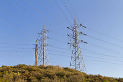 Power Line Towers  Royalty Free Stock Photos