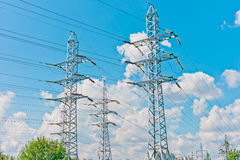 Power line towers Royalty Free Stock Photo