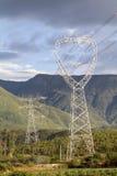 Power line towers , Yunnan China Stock Photo