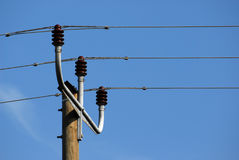 Power Line Transformers Stock Photography
