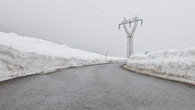 Power line in Tyrol Stock Image