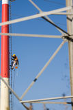 Power line worker Royalty Free Stock Photos