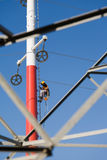 Power line worker Stock Image