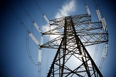 Power line Royalty Free Stock Image