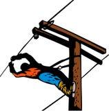 Power lineman at work Stock Image