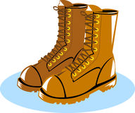 Power lineman working boots Royalty Free Illustration