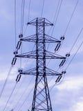 Power lines. Power line pillar Stock Images