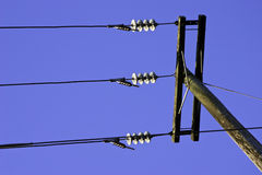 Power lines Royalty Free Stock Photos