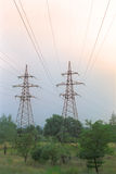 Power lines. Stock Photos