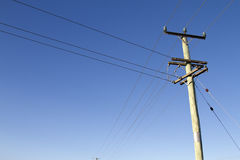 Power lines Royalty Free Stock Images