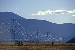 Power Lines. New Zealand Stock Photography