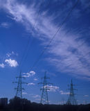 Power lines. Royalty Free Stock Photo