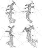 Power lines vector illustration