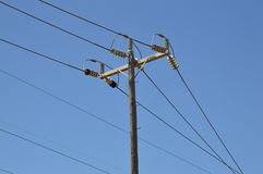 Power Lines. High voltage power lines.  Photo taken February 2014 Stock Photography