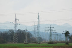 Power lines. 2 Stock Photos
