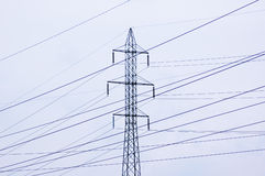 Power lines. 5 Royalty Free Stock Image