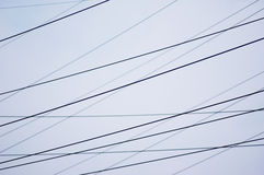 Power lines. 6 Royalty Free Stock Photography