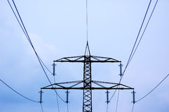 Power lines. 8 Stock Image