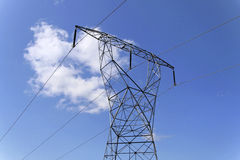 Power lines. High voltage power lines Stock Images