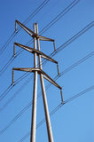 Power Lines. &Blue Sky Royalty Free Stock Images