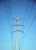 Power Lines. & Blue Sky stock photography