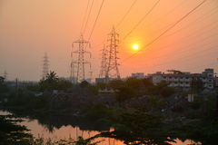 Free Power Lines Royalty Free Stock Image - 90098566