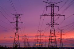 Free Power Lines At Dawn Royalty Free Stock Photography - 4461747