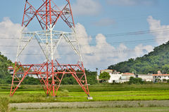 Power lines in countryside Stock Image