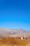 Power lines in the desert Stock Image