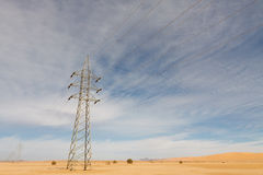 Power Lines in the Desert Stock Images