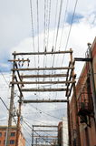 Power lines. Royalty Free Stock Image