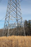 Power Lines in a Field Royalty Free Stock Images