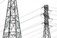 Power lines. High voltage towers. Power lines Royalty Free Stock Photos