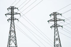 Power lines. High voltage towers. Power lines Stock Photography